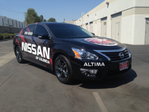 Nissan of Valencia Wrap