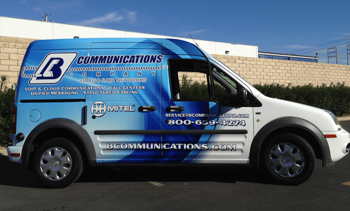 bcommunications vehicle wrap