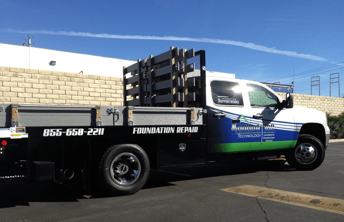 foundation air partial truck wrap