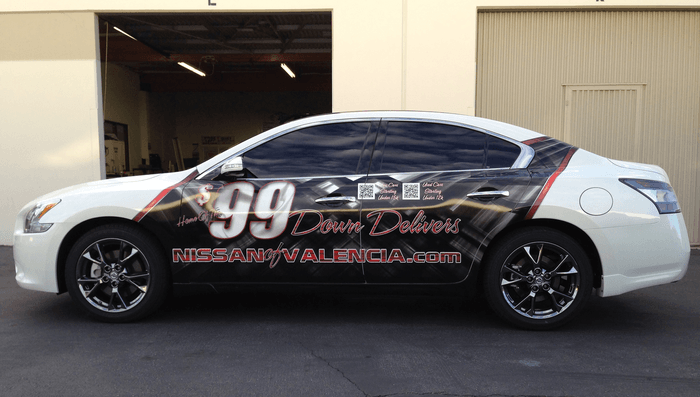 nissan 99 down delivers vehicle wrap