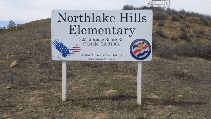 northlake hills elementary vinyl wrap sign