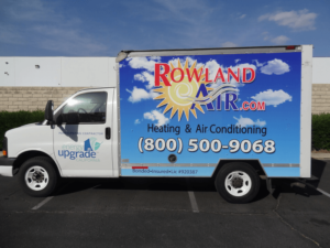 rowland air truck wrap
