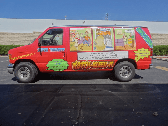kleen it full van wrap