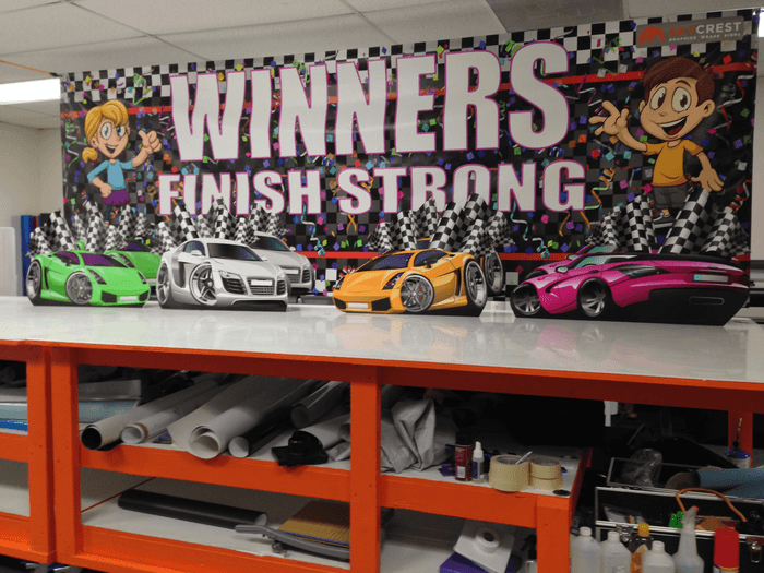 banner and car wraps