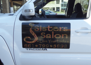 sister salon vehicle magnets