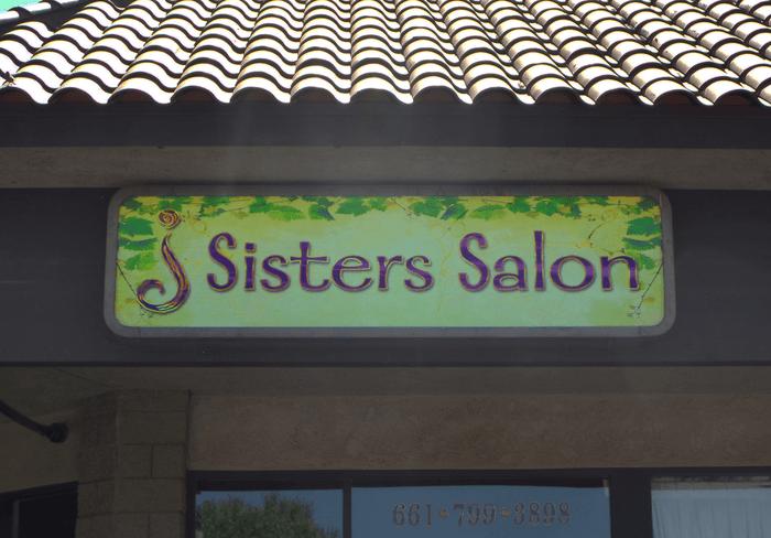 sisters salon vinyl print