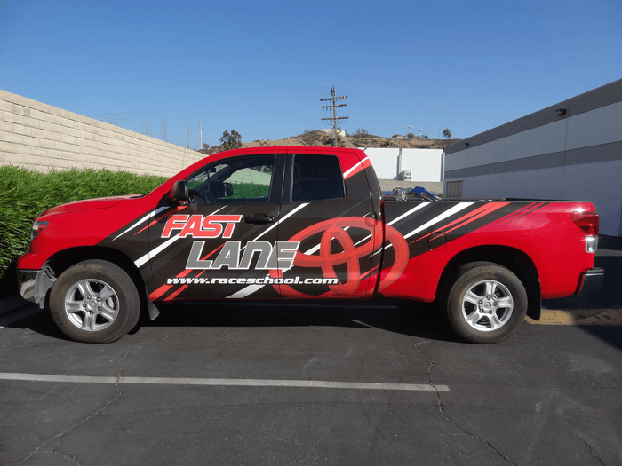 toyota partial truck wrap
